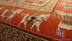 rug with horse