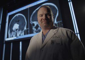 Doctor in dark room