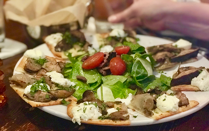 A flatbread at The Pantry West in West Little Rock. Photo by Michael Kirkpatrick.