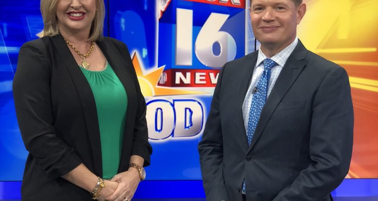 AY Magazine Publisher Heather Baker and Pat Walker of Fox 16
