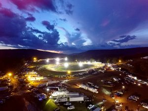 race track at night