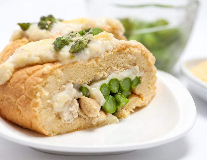 Recipe Monday: Spinach and Goat Cheese-Stuffed Chicken Breast with Roasted Asparagus