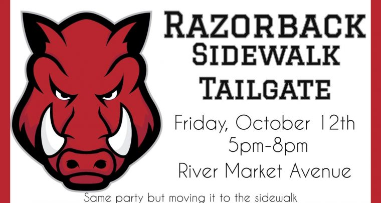 Cache Restaurant Razorback Sidewalk Tailgate Party