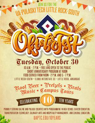 Celebrate Oktoberfest Tomorrow at University of Arkansas Pulaski Technical College