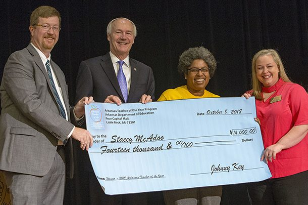 Stacey McAdoo Named 2019 Arkansas Teacher of the Year