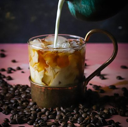 Ritika on the Rock: Creamy Caramel Iced Coffee