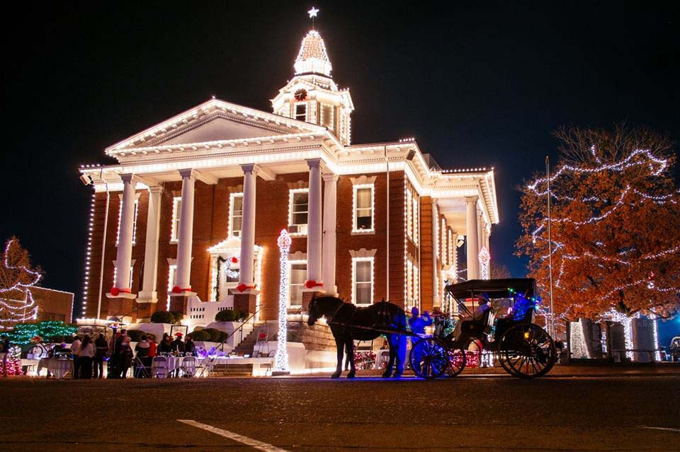 The Logan County Courthouse sets the holiday tone for residents and visitors to Paris.