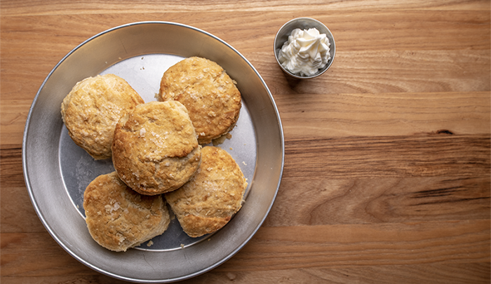 The Bodacious Biscuit: Hot. Pliant. Fluffy. Buttered. Jellied. Smothered in Gravy.