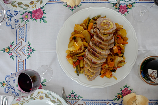 Elizabeth Minchilli's Stuffed Roast Pork with Mortadella